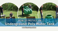How to Install Underground Poly Water Tanks