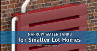 Narrow Water Tanks for Smaller Properties and Shrinking Lot Sizes